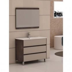 Mueble de baño New Centrum 80 textil-cobre
